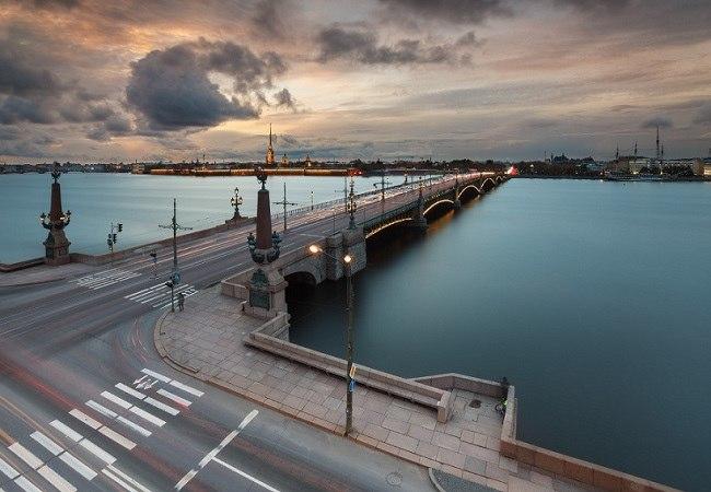 Торжественное открытие Троицкого моста в Санкт-Петербурге